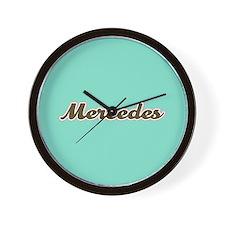 Mercedes Aqua Wall Clock