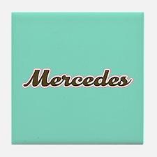 Mercedes Aqua Tile Coaster