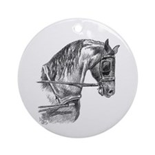 Driving Horse Ornament (Round)