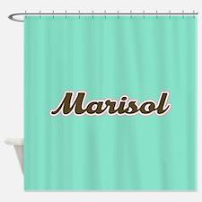 Marisol Aqua Shower Curtain