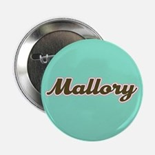 "Mallory Aqua 2.25"" Button"