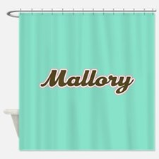 Mallory Aqua Shower Curtain