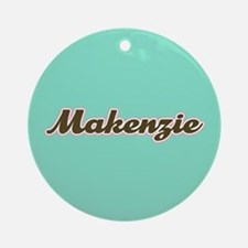 Makenzie Aqua Ornament (Round)
