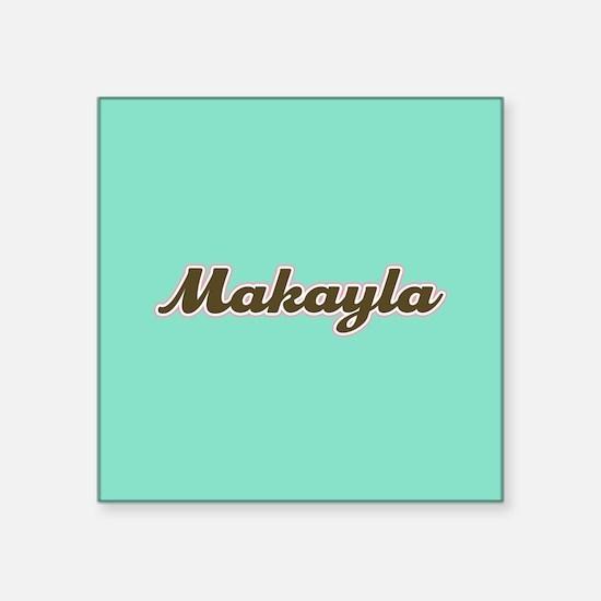 Makayla Aqua Sticker