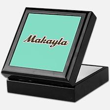 Makayla Aqua Keepsake Box