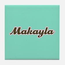 Makayla Aqua Tile Coaster