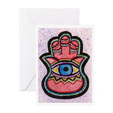 Cute Hamsa art Greeting Card