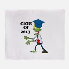 Class of 2013-Zombie with Hat Throw Blanket