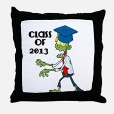 Class of 2013-Zombie with Hat Throw Pillow