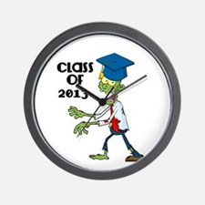 Class of 2013-Zombie with Hat Wall Clock