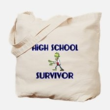High School Survivor-Zombie-blue Tote Bag