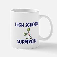 High School Survivor-Zombie-blue Mug