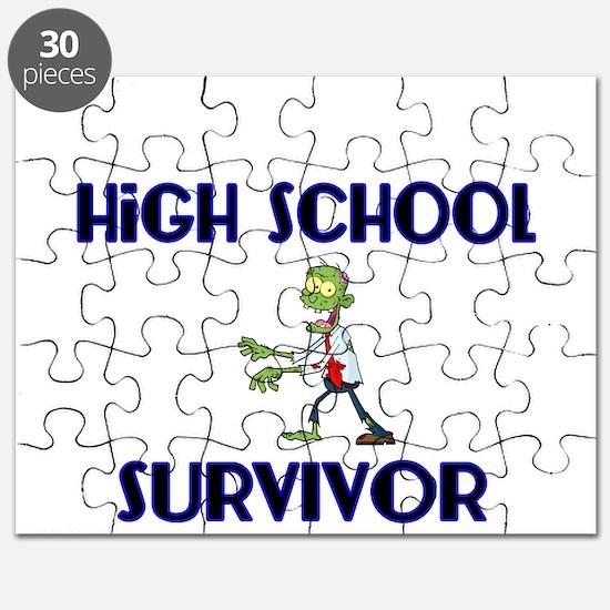High School Survivor-Zombie-blue Puzzle