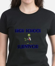 High School Survivor-Zombie-blue T-Shirt