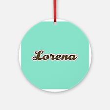 Lorena Aqua Ornament (Round)