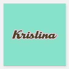 "Kristina Aqua Square Car Magnet 3"" x 3"""