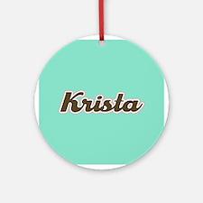 Krista Aqua Ornament (Round)