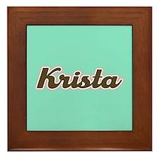 Krista Aqua Framed Tile