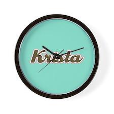 Krista Aqua Wall Clock