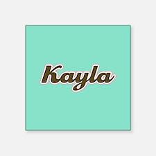 Kayla Aqua Sticker