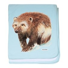 Wolverine Animal baby blanket