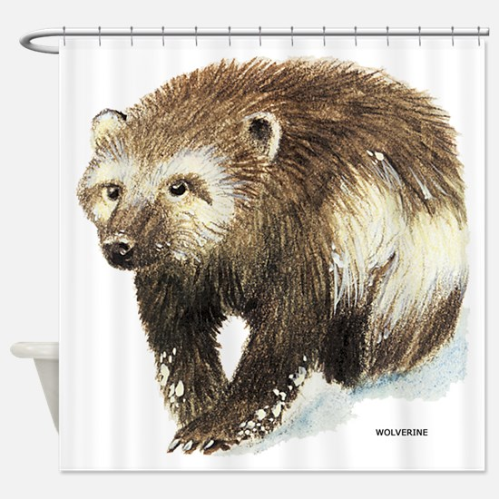 Wolverine Animal Shower Curtain