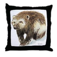 Wolverine Animal Throw Pillow