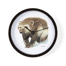 Wolverine Animal Wall Clock