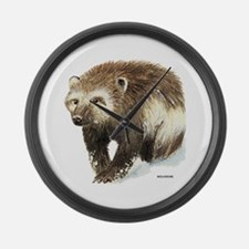 Wolverine Animal Large Wall Clock