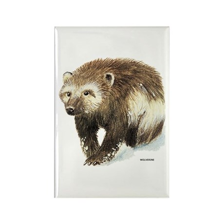 Wolverine Animal Rectangle Magnet (100 pack)