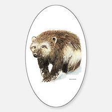 Wolverine Animal Sticker (Oval)