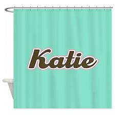 Katie Aqua Shower Curtain