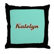 Katelyn Aqua Throw Pillow