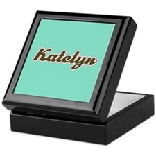 Katelyn Aqua Keepsake Box