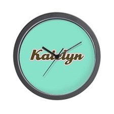 Katelyn Aqua Wall Clock