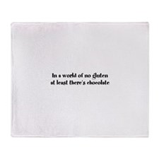 World of no gluten Throw Blanket