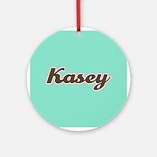 Kasey Aqua Ornament (Round)