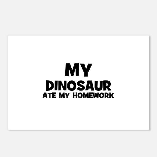 My Dinosaur Ate My Homework Postcards (Package of