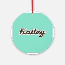 Kailey Aqua Ornament (Round)