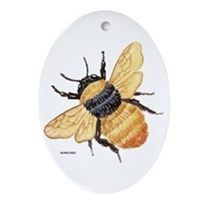 Bumblebee Insect Ornament (Oval)