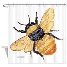 Bumblebee Insect Shower Curtain