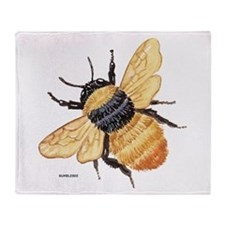 Bumblebee Insect Throw Blanket