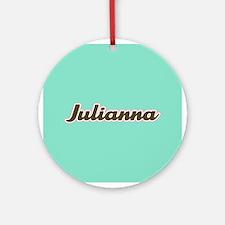 Julianna Aqua Ornament (Round)