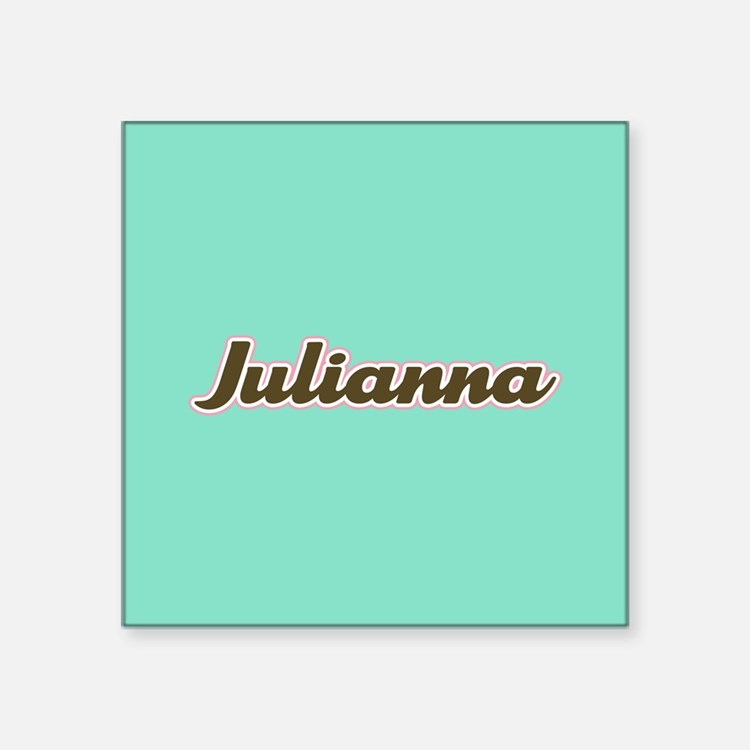 Julianna Aqua Sticker
