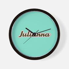 Julianna Aqua Wall Clock