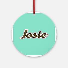 Josie Aqua Ornament (Round)