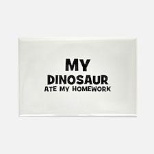 My Dinosaur Ate My Homework Rectangle Magnet