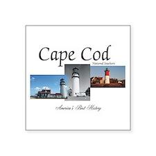 "Cape Cod Americasbesthistor Square Sticker 3"" x 3"""