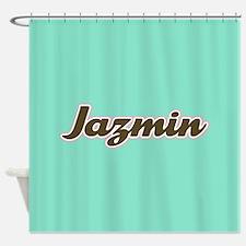 Jazmin Aqua Shower Curtain