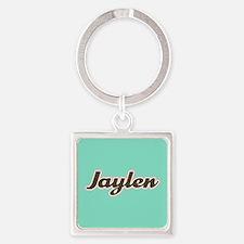 Jaylen Aqua Square Keychain